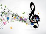 Musical abstract background  Muzyka Obraz