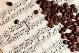 Music and coffe beans  Muzyka Obraz