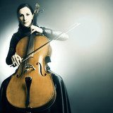 Cello musical instrument musician cellist playing  Muzyka Obraz
