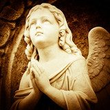 Praying angel in sepia shades  Religijne Obraz
