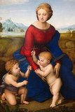 Madonna of the Meadow by Raphael (1505)  Religijne Obraz