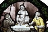 Last supper stained glass  Religijne Obraz