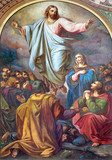 Vienna -  Fresco of Ascension of the Lord  Religijne Obraz