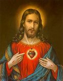 typical catholic image of heart of Jesus Christ  Religijne Obraz