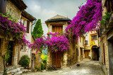 art beautiful old town of Provence  Uliczki Fototapeta