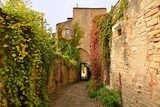 A narrow street in Cordes sur Ciel, a small medieval city on a h  Uliczki Fototapeta