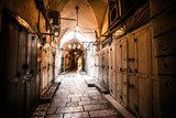 Ancient Alley in Jewish Quarter, Jerusalem, Israel.  Uliczki Fototapeta