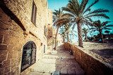 The old streets of Jaffa, Tel Aviv, Israel  Uliczki Fototapeta