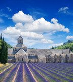Senanque abbey with lavender field, landmark of Provence, Vauclu  Prowansja Fototapeta