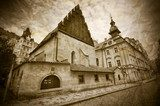 Old-New Synagogue in Prague  Fototapety Sepia Fototapeta