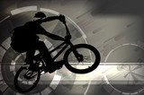 illustration of BMX cyclist  Sport Fototapeta