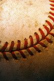 Closeup of an old, used baseball  Sport Fototapeta