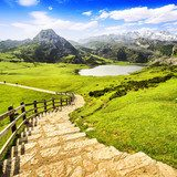 Lake Ercina, one of the lakes of Covadonga, Asturias , Spain.  Las Fototapeta