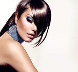 Fashion Beauty Girl. Gorgeous Woman Portrait  Obrazy do Salonu Kosmetycznego Obraz