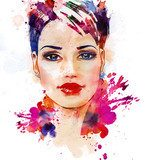 Fashion illustration of the beautiful girl  Obrazy do Salonu Kosmetycznego Obraz