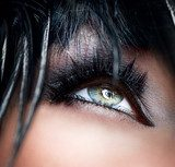 Smokey Eyes Make-up close-up. Black Eyeshadow  Obrazy do Salonu Kosmetycznego Obraz