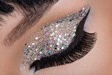 Woman eye with fashion makeup  Obrazy do Salonu Kosmetycznego Obraz