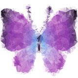 Violet butterfly of triangles  Motyle Fototapeta