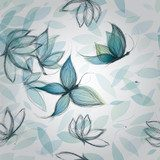 Azure Flowers like Butterflies / Surreal seamless pattern  Motyle Fototapeta