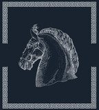 Horse head  Drawn Sketch Fototapeta