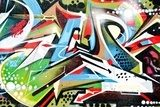 Abstract Graffity detail Graffiti Fototapeta