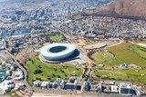 aerial view downtown of Cape Town, South Africa  Stadion Fototapeta