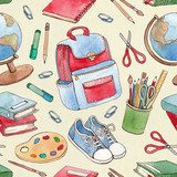 Back to school seamless pattern Tapety Nauka i Szkoła Tapeta
