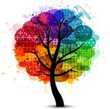 Beautiful abstract color tree background Plakaty do Biura Plakat