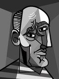 cubist painter portrait Picasso Obraz