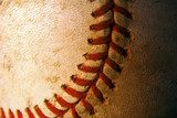 Closeup of an old, weathered baseball  Sport Fototapeta
