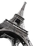 Famous Eiffel Tower of Paris isolated on white Wieża Eiffla Fototapeta