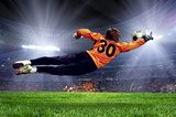 Football goalman on the stadium field  Stadion Fototapeta