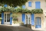 French Village Cottage with blue shutters Provence France Prowansja Fototapeta