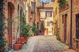 Alley in old town Tuscany Italy Uliczki Fototapeta