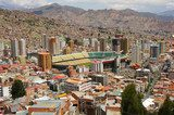 General view of La Paz, Bolivia  Stadion Fototapeta