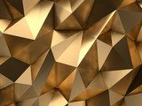 Gold Abstract 3D-Render Background Fototapety do Salonu Fryzjerskiego Fototapeta