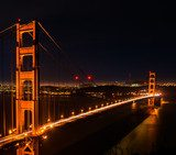 golden gate bridge at night Mosty Obraz
