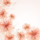 vector background with flowers  Kwiaty Fototapeta