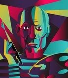 great spanish colorful portrait painter Picasso Obraz