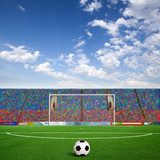 Green football  Stadion Fototapeta