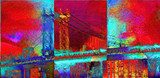 Manhattan bridge Van Gogh Obraz