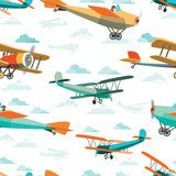 od Retro Airplanes Tapety Niebo i Kosmos Tapeta