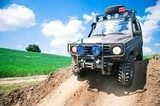 Offroad through muddy field Nastolatek Plakat