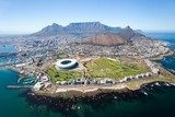 overall aerial view of Cape Town, South Africa  Stadion Fototapeta