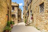 alley in the historic town of Volterra, tuscany, italy Uliczki Fototapeta