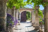 The old abbey of St.Hilaire near the village Lacoste in Provence Prowansja Fototapeta