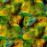 seamless cubism green, yellow abstract art Picasso texture water Picasso Obraz