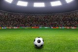 Soccer ball, stadium, light  Stadion Fototapeta