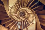 Spiral staircase in tower - interior architecture of building Schody Fototapeta