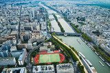 top view of the river and the stadium in Paris  Stadion Fototapeta